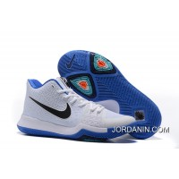 "New Release Girls Nike Kyrie 3 ""Duke"" White Blue Black"