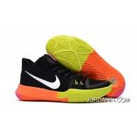 Girls Nike Kyrie 3 Black Colorful Volt Orange Pink Cheap To Buy