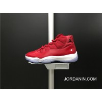 Super Deals 378037-623 Air Jordan 11 Gym Red True Carbon Also Shoes Red And White Colorways Men