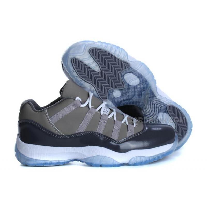 Air Jordan 11s Low Top Grey Blue With White For Sale ...