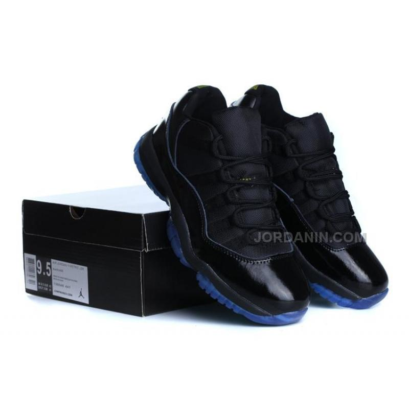 brand new 5783e dcb5f Air Jordan 11s Low Tops Black New With Blue 2014 For Sale