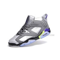 Air Jordan 6 NEW Mens Womens Silver Black Shoes Online New Arrival