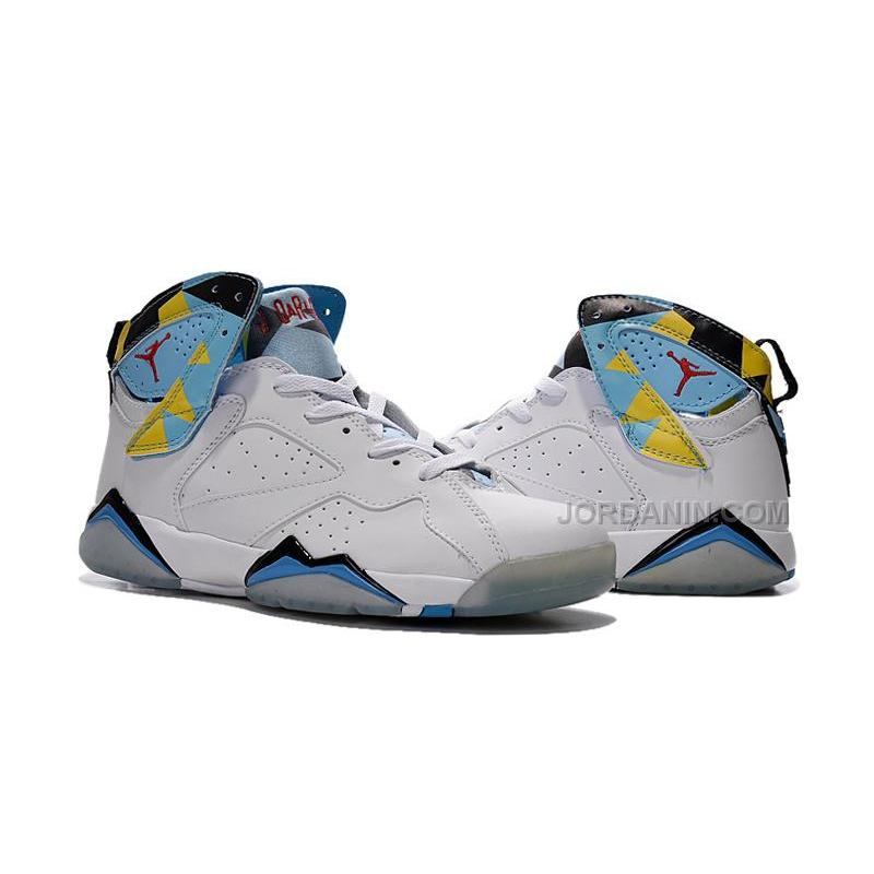 76d6bc5c2c392d ... coupon code for air jordan 7s white blue yellow men women sports shoes  new arrival 38cd3