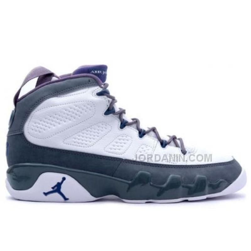 detailed look 2378a 2bf98 For Sale Air Jordan Retro 9 White French Blue Flint Grey 302370-141