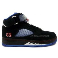 Nike Air Jordan Force 5 AJF5 Black Varsity Red Blue Ribbon New Blue 318608-061 Hot