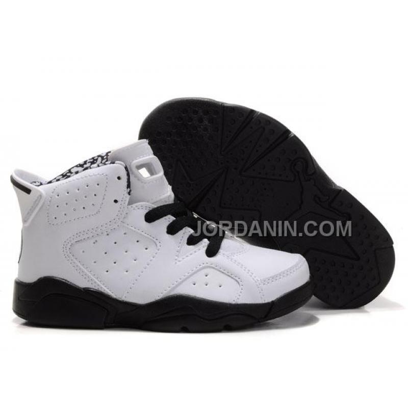 173788f32 USD  76.00. Kid Air Jordan 6 White Black Hot ...