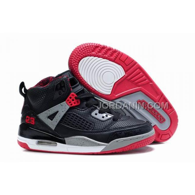sneakers for cheap 47fc8 e195f New Arrival Kids Air Jordan Spizike 3.5 Black Red Grey