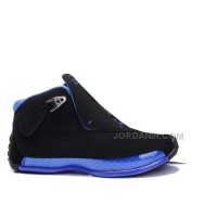 New Arrival Women Air Jordan 18 Original OG Black Blue 305869-107