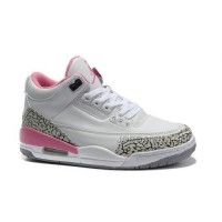New Arrival Women Air Jordan 3 Colorway White Black Pink