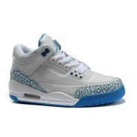 New Arrival Women Air Jordan 3 Colorway White Blue