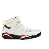 Women Air Jordan Retro 7 Shoes White Black Red 304774 104 For Sale