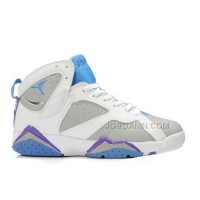 Women Air Jordan Retro 7 Shoes White Blue Grey For Sale