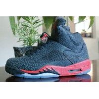 Air Jordan 5s Women Shoes Black Red New