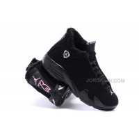 Hot Jordan 14s Womens Shoes Black Plus Velvet 2015 NEW