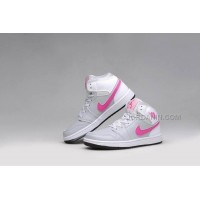 New Arrival Air Jordan 1s NEW White Pink Women/Girls Shoes 2015