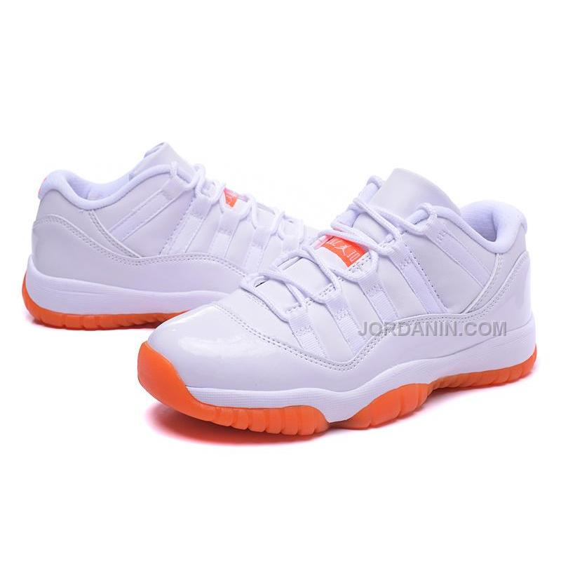2e8fde91e0b847 ... New Arrival Air Jordan 11s Low Women Shoes Online NEW White Orange ...