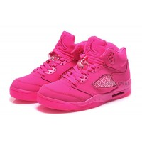 New Arrival Air Jordan 5s Womens Shoes Red 2015 NEW