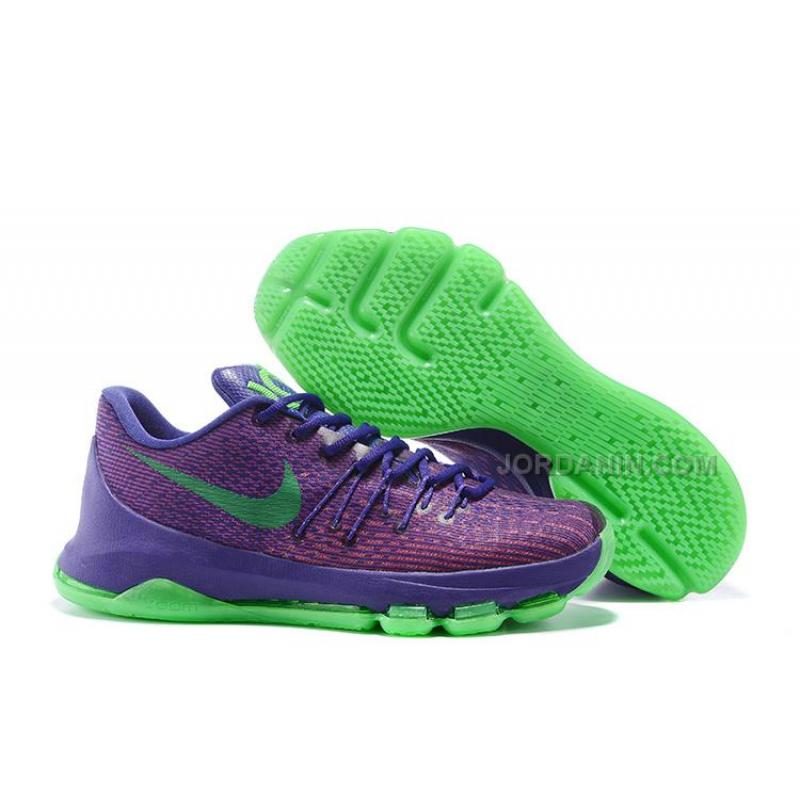 Kevin Durant 8s Purple Green NBA Shoes 2015 New Arrival ...