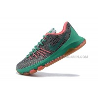 KD 8s Shoes Kevin Durant Shoes Grey Green Mens Basketball Sneakers New Arrival
