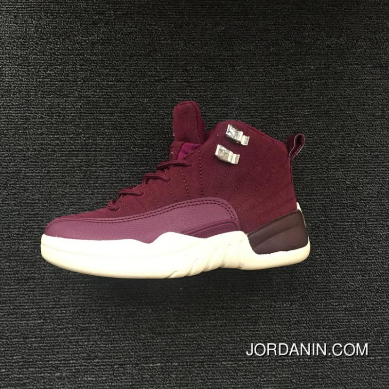 5abd750ffe7c21 USD  87.41  262.24. Kids Nike Air Jordan 12 Burgundy 2018 Discount ...