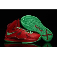 Nike Lebron 10 Kids Shoes Christmas Red/Green Online