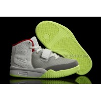 Nike Air Yeezy 2 Kids Shoes Wolf Grey/Pure Platinum Online
