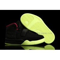 Nike Air Yeezy 2 Kids Shoes Black/Solar Red Online