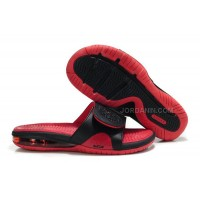 Nike Air Max Lebron Slippers Black/Red Online
