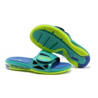 Nike Air Lebron 10 Slippers Jade/Blue/Yellow For Sale