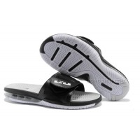 Nike Air Lebron 10 Slippers Black/White/Grey For Sale