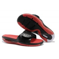 Nike Air Lebron 10 Slippers Black/Red/White For Sale