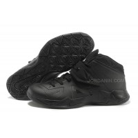 Nike Zoom Lebron Soldier 7 Pure Black For Sale
