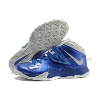 Nike Zoom Lebron Soldier 7 Royal Blue/Pure Platinum For Sale