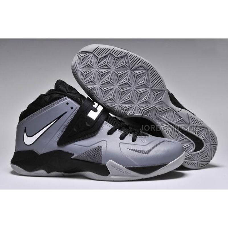 720098083747 Nike Zoom Lebron Soldier 7 Grey Black For Sale