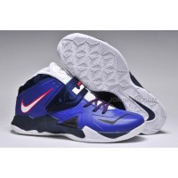 Nike Zoom Lebron Soldier 7 Blue/Black/White For Sale