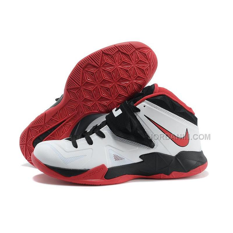 5d83912f9345c Nike Zoom Lebron Soldier 7 White Black Red For Sale