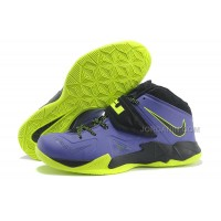 Nike Zoom Lebron Soldier 7 Black/Purple/Fluorescence Green For Sale