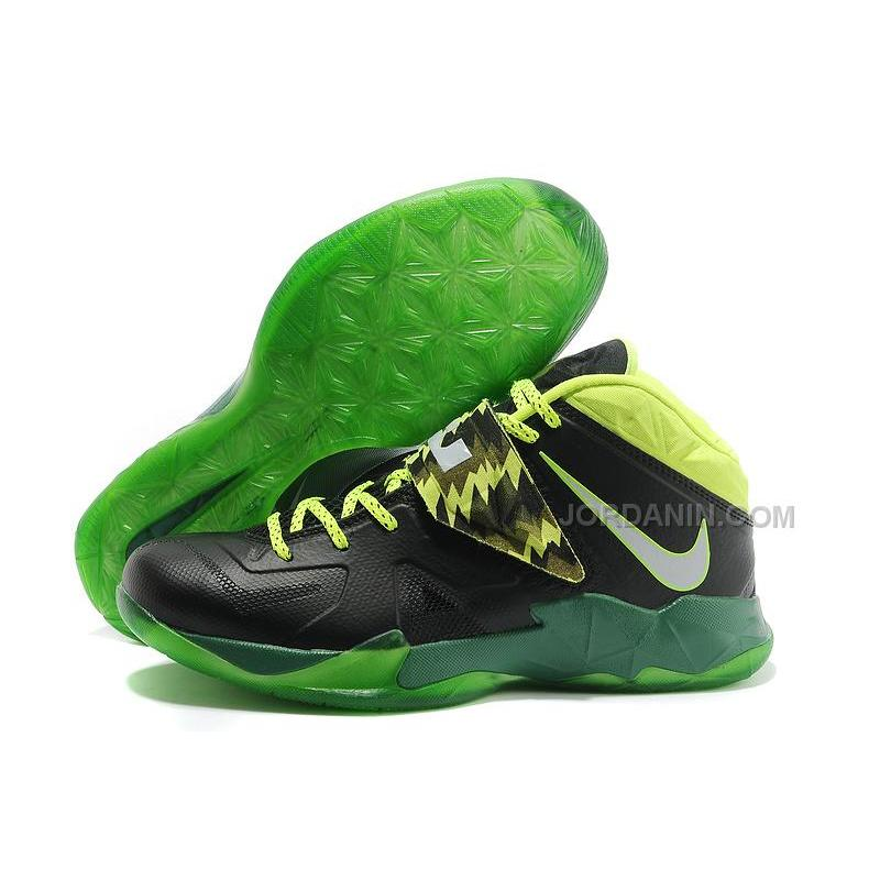 580176b8a24f Nike Zoom Lebron Soldier 7 Black Green For Sale
