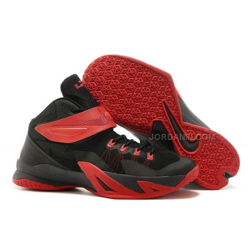 low priced 942ae 8f95f USD  76.00. Nike Lebron Soldier 8 Black Red ...