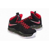 Nike LeBron X Cork QS Black/Red For Sale