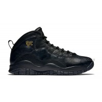"New 2016 Air Jordan 10 ""NYC"" Black/Black-Dark Grey-Metallic Gold"