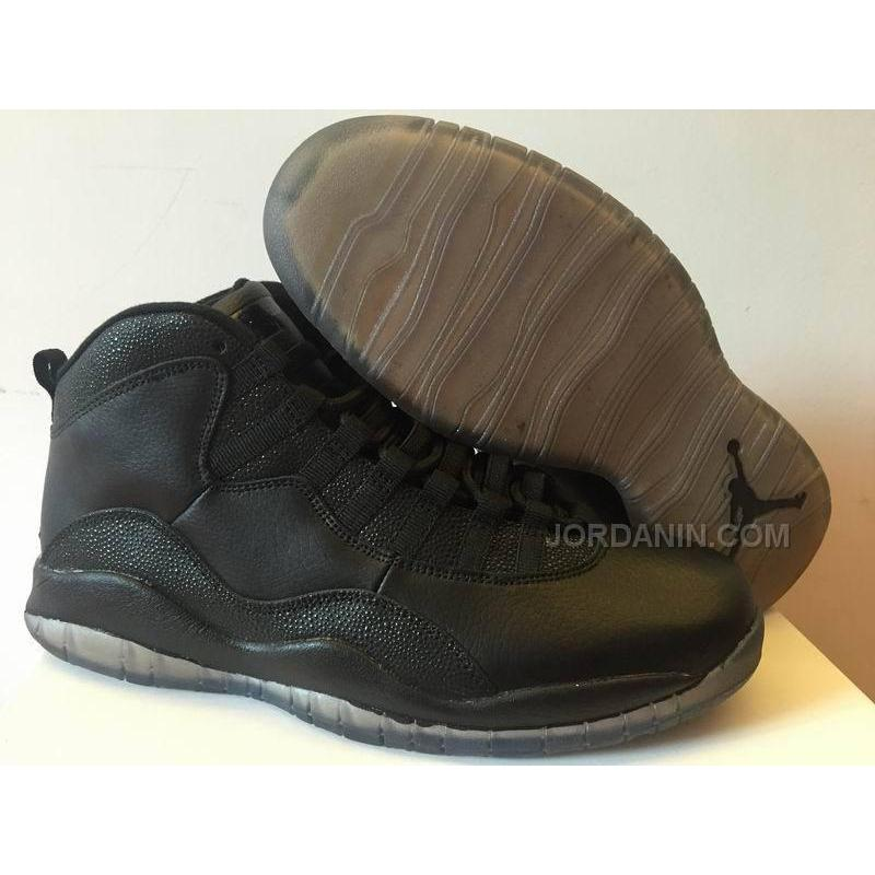 "a73d5240f00 New Air Jordans 10 Retro ""OVO"" Black Shoes For Sale, Price: $92.00 ..."