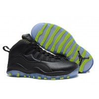 Air Jordans 10 Retro Black-Grey/Venom Green For Sale Free Shipping
