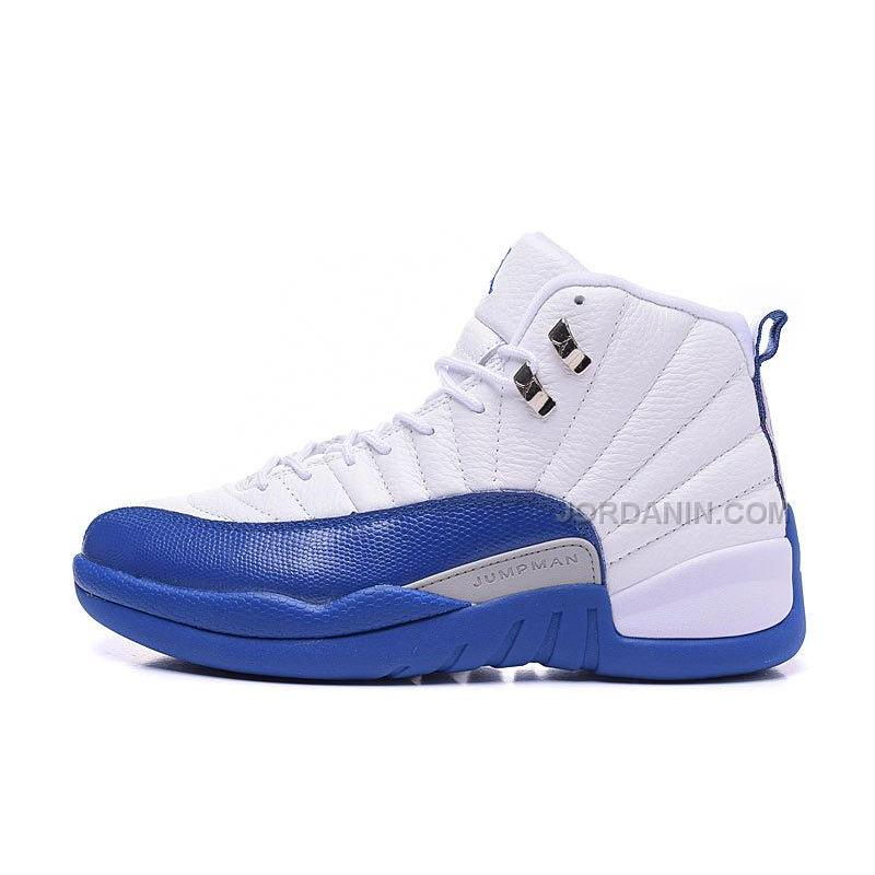 "uk availability 0cdb6 0c332 ... New 2016 Air Jordans 12 Retro ""French Blue"" White French Blue-Metallic  ..."