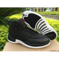 Men Basketball Shoes Air Jordan 12 Black Nylon AAAAA 269 New Arrival