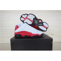 Air Jordans 13 Low White/Black-Varsity Red Shoes For Sale Online Hot