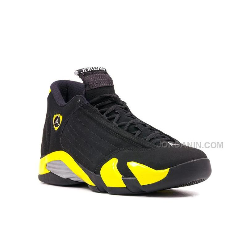 "6fd18c0f591b USD  85.00. Air Jordans 14 Retro ""Thunder"" Black Vibrant Yellow-White ..."