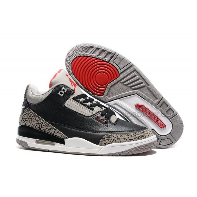 "separation shoes 60699 881b7 New 2016 Air Jordan 3 ""Black Cement"" For Sale"