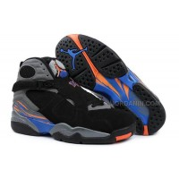 Air Jordans 8 Retro Black/Bright Citrus-Cool Grey-Deep Royal Blue For Sale Free Shipping