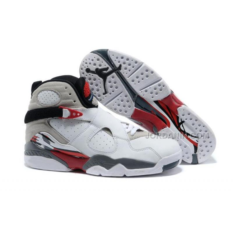 "Air Jordans 8 Retro ""Bugs Bunny"" White Black-True Red For Sale Free ... dbb51d7f7"